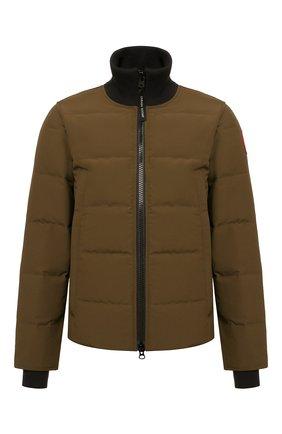 Мужская пуховая куртка woolford CANADA GOOSE хаки цвета, арт. 3807M   Фото 1