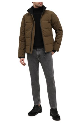 Мужская пуховая куртка woolford CANADA GOOSE хаки цвета, арт. 3807M   Фото 2