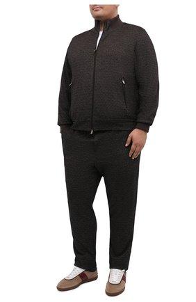 Мужской спортивный костюм из шерсти и хлопка CAPOBIANCO темно-коричневого цвета, арт. 9MT16.ME00./62-68 | Фото 1