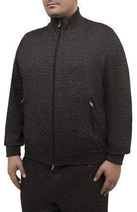 Мужской спортивный костюм из шерсти и хлопка CAPOBIANCO темно-коричневого цвета, арт. 9MT16.ME00./62-68 | Фото 2