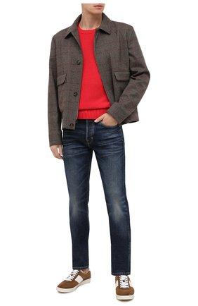 Мужской кашемировый джемпер LORO PIANA красного цвета, арт. FAI1991 | Фото 2