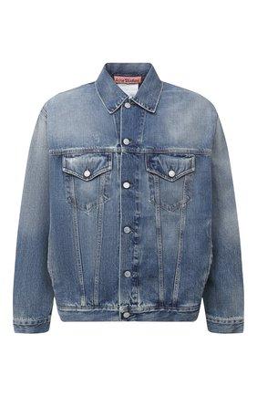 Мужская джинсовая куртка ACNE STUDIOS синего цвета, арт. B90452   Фото 1