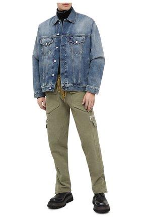 Мужская джинсовая куртка ACNE STUDIOS синего цвета, арт. B90452   Фото 2