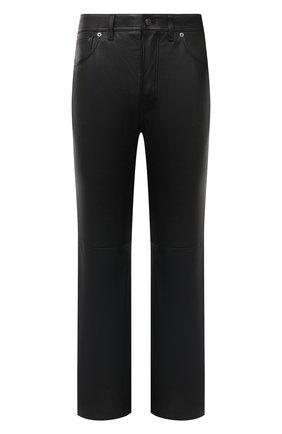 Мужские кожаные брюки ACNE STUDIOS черного цвета, арт. BK0311 | Фото 1