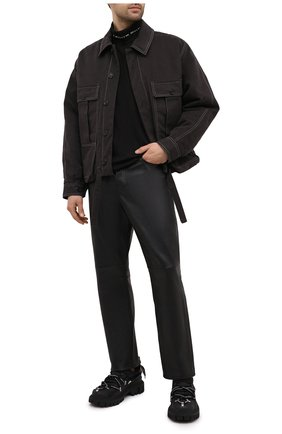 Мужские кожаные брюки ACNE STUDIOS черного цвета, арт. BK0311 | Фото 2