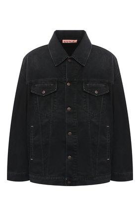 Мужская джинсовая куртка ACNE STUDIOS черного цвета, арт. C90039/M   Фото 1