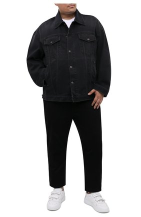 Мужская джинсовая куртка ACNE STUDIOS черного цвета, арт. C90039/M   Фото 2