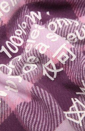 Мужской шерстяной шарф ACNE STUDIOS сиреневого цвета, арт. CA0103/M | Фото 2