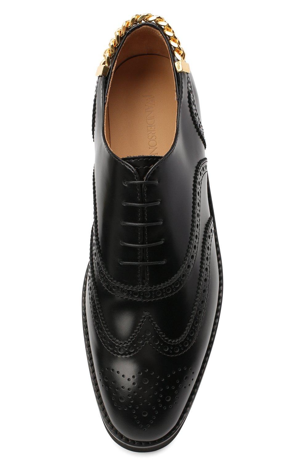 Мужские кожаные оксфорды JW ANDERSON черного цвета, арт. AN35500A/12000 | Фото 5
