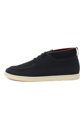 Мужские кожаные ботинки soho LORO PIANA темно-синего цвета, арт. FAL2903 | Фото 3