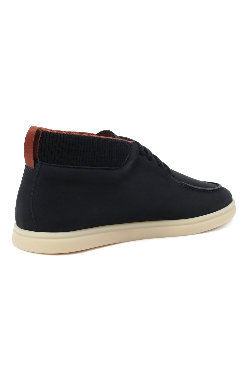 Мужские кожаные ботинки soho LORO PIANA темно-синего цвета, арт. FAL2903 | Фото 4