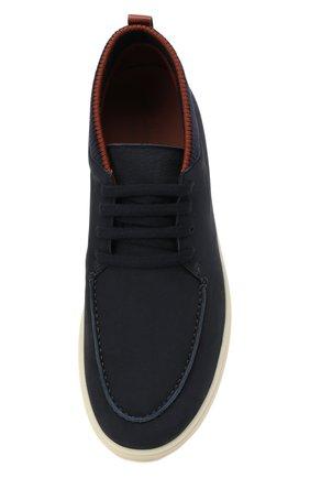 Мужские кожаные ботинки soho LORO PIANA темно-синего цвета, арт. FAL2903 | Фото 5