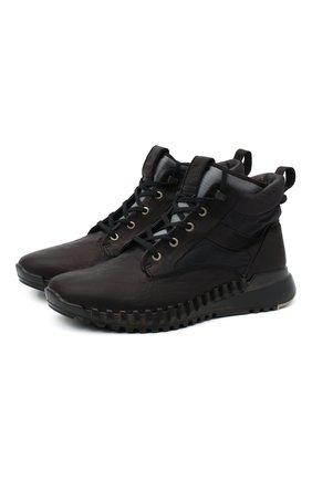 Мужские комбинированные ботинки STONE ISLAND черного цвета, арт. 7315S0796 | Фото 1