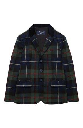 Детский пиджак IL GUFO темно-синего цвета, арт. A20GB030W3046/10A-12A | Фото 1 (Материал внешний: Синтетический материал; Материал подклада: Синтетический материал; Рукава: Длинные; Кросс-КТ: пиджак; Ростовка одежда: 9 лет | 134 см, 12 лет | 152 см)