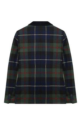 Детский пиджак IL GUFO темно-синего цвета, арт. A20GB030W3046/10A-12A | Фото 2 (Материал внешний: Синтетический материал; Материал подклада: Синтетический материал; Рукава: Длинные; Кросс-КТ: пиджак; Ростовка одежда: 9 лет | 134 см, 12 лет | 152 см)