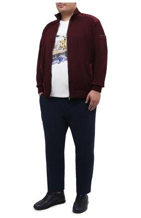 Мужская хлопковая футболка PAUL&SHARK белого цвета, арт. A20P1638/C00/3XL-6XL | Фото 2