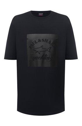 Мужская хлопковая футболка PAUL&SHARK черного цвета, арт. A20P1671/C00/3XL-6XL | Фото 1