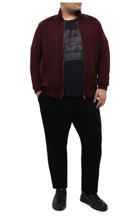 Мужская хлопковая футболка PAUL&SHARK черного цвета, арт. A20P1671/C00/3XL-6XL | Фото 2