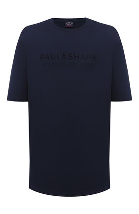 Мужская хлопковая футболка PAUL&SHARK темно-синего цвета, арт. A20P1678/C00/3XL-6XL | Фото 1