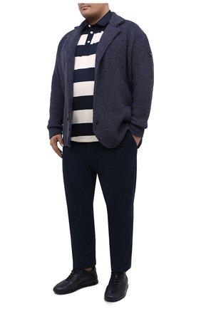 Мужское хлопковое поло PAUL&SHARK темно-синего цвета, арт. A20P1779/C00/3XL-6XL | Фото 2