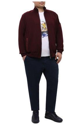 Мужской шерстяной кардиган PAUL&SHARK бордового цвета, арт. I20P1255/FLV/3XL-6XL | Фото 2