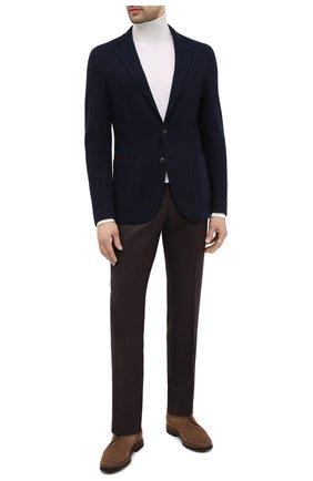 Мужской пиджак из хлопка и шерсти LUCIANO BARBERA темно-синего цвета, арт. 111210/19051 | Фото 2