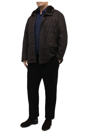 Мужская шерстяная куртка с меховой отделкой CANALI коричневого цвета, арт. 020275JP/SG01674 | Фото 2
