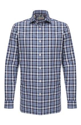 Мужская хлопковая рубашка LUIGI BORRELLI синего цвета, арт. EV08/NAND0/TS30016 | Фото 1