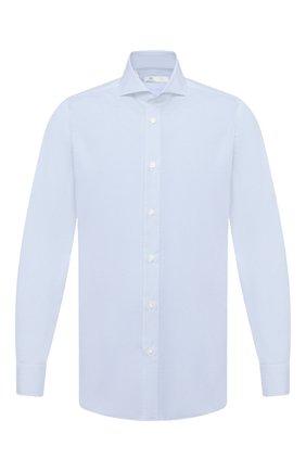 Мужская хлопковая сорочка LUIGI BORRELLI голубого цвета, арт. EV08/FELICE/TS30851 | Фото 1