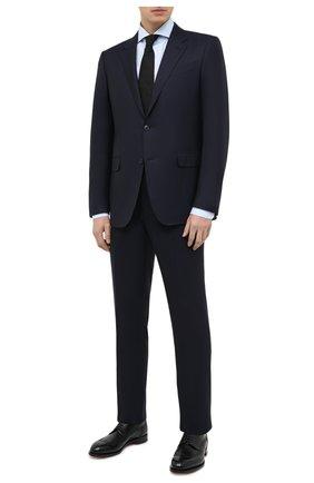 Мужская хлопковая сорочка LUIGI BORRELLI голубого цвета, арт. EV08/FELICE/TS30851 | Фото 2