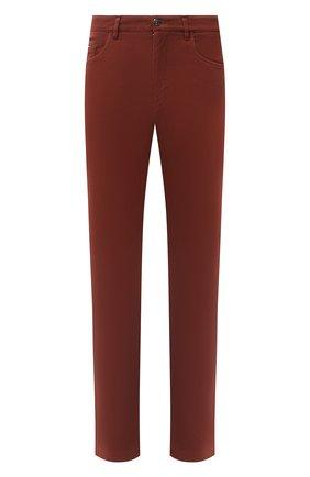 Мужские хлопковые брюки ZILLI коричневого цвета, арт. M0U-D0160-C0TE1/R001   Фото 1