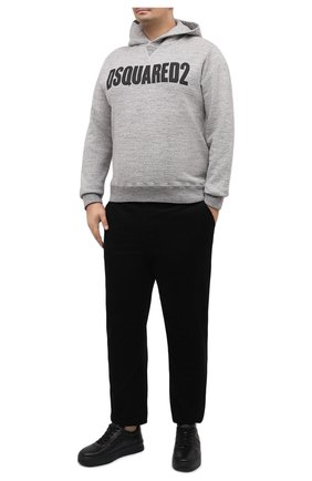 Мужской хлопковое худи DSQUARED2 темно-серого цвета, арт. S71GU0412/S25148   Фото 2