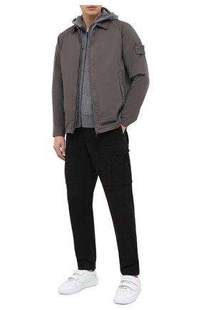 Мужская рубашка из хлопка и шерсти STONE ISLAND серого цвета, арт. 7315116F4 | Фото 2