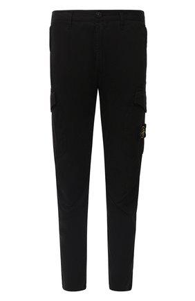 Мужской хлопковые брюки-карго STONE ISLAND черного цвета, арт. 731531310 | Фото 1