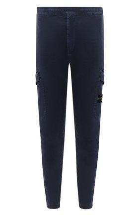 Мужской хлопковые брюки-карго STONE ISLAND темно-синего цвета, арт. 7315314L1 | Фото 1