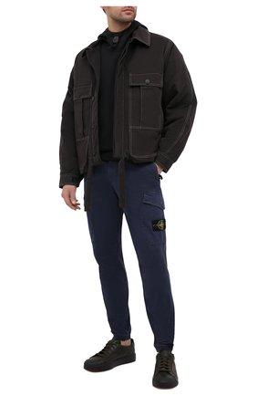 Мужской хлопковые брюки-карго STONE ISLAND темно-синего цвета, арт. 7315314L1 | Фото 2