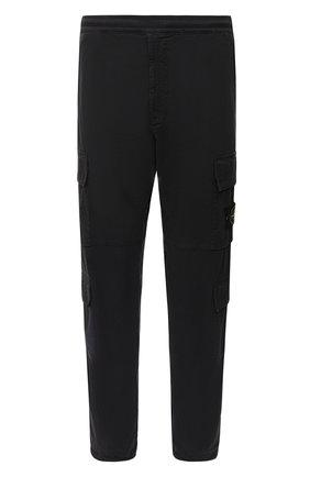Мужской хлопковые брюки-карго STONE ISLAND темно-серого цвета, арт. 731531710 | Фото 1