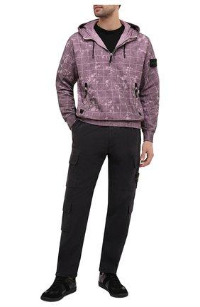 Мужской хлопковые брюки-карго STONE ISLAND темно-серого цвета, арт. 731531710 | Фото 2