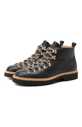 Мужские кожаные ботинки m120 FRACAP черного цвета, арт. M120/NEBRASKA/GUARD.ZIG-ZAG/CALFSKIN/SILVER ANTIK/ | Фото 1