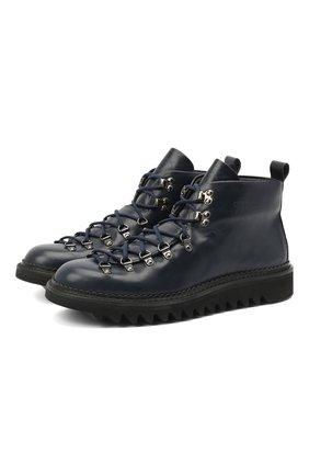 Мужские кожаные ботинки m120 FRACAP синего цвета, арт. M120/NEBRASKA/GUARD.0NDA/CALFSKIN/CANNA FUCILE/RIP | Фото 1