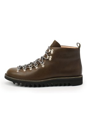 Мужские кожаные ботинки m120 FRACAP темно-зеленого цвета, арт. M120/NEBRASKA/CALFSKIN/SILVER ANTIK/RIPPLE   Фото 3