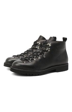 Мужские кожаные ботинки m120 FRACAP черного цвета, арт. M120/NEBRASKA/FUR LAMB/CANNA FUCILE/R0CCIA   Фото 1