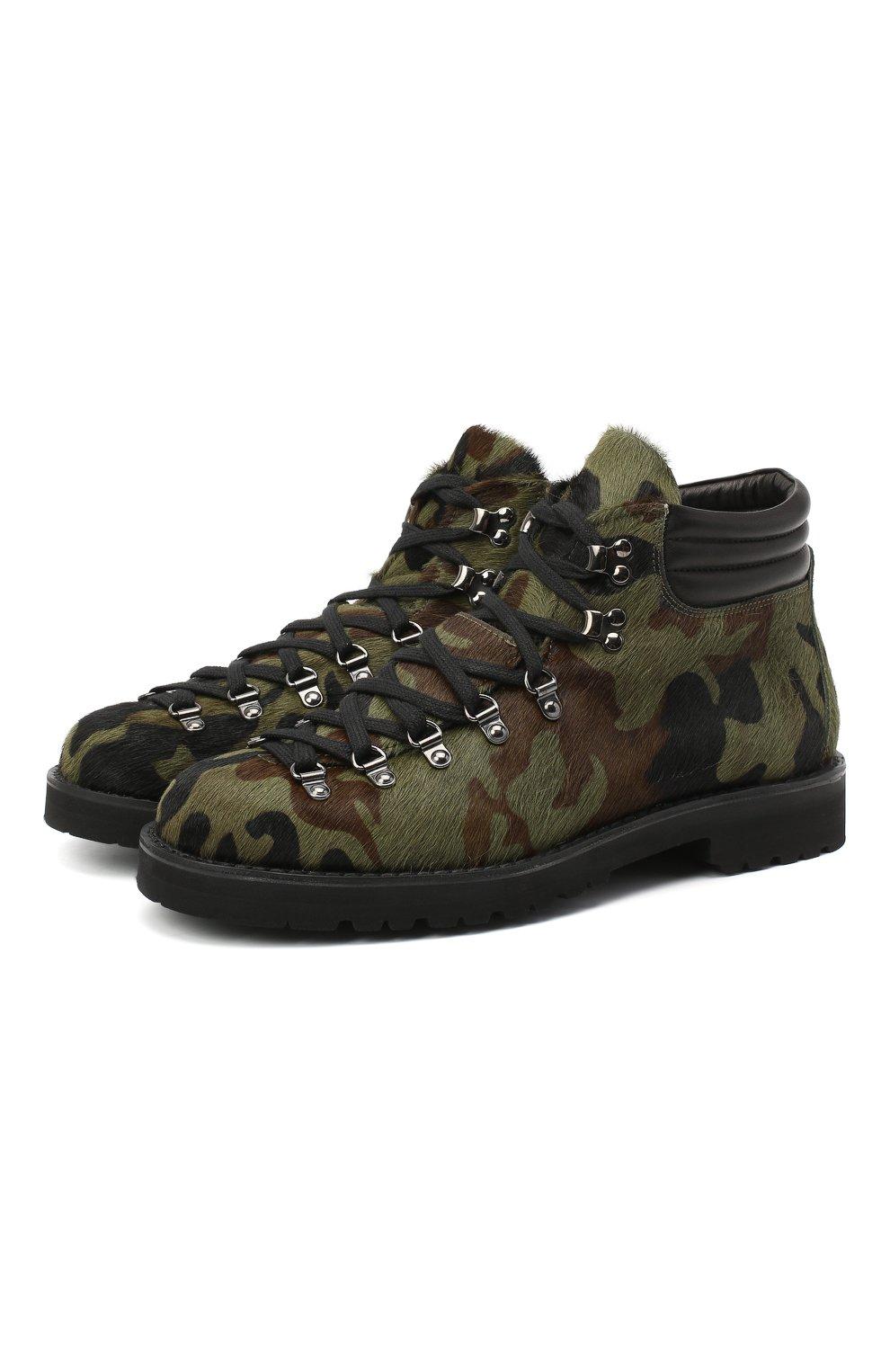 Мужские кожаные ботинки m127 FRACAP зеленого цвета, арт. M127/P0NY/IMB.NEBR./CALFSKIN/CANNA FUCILI/R0CCIA | Фото 1