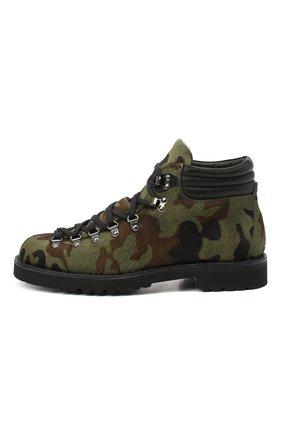 Мужские кожаные ботинки m127 FRACAP зеленого цвета, арт. M127/P0NY/IMB.NEBR./CALFSKIN/CANNA FUCILI/R0CCIA | Фото 3