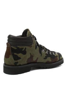 Мужские кожаные ботинки m127 FRACAP зеленого цвета, арт. M127/P0NY/IMB.NEBR./CALFSKIN/CANNA FUCILI/R0CCIA | Фото 4