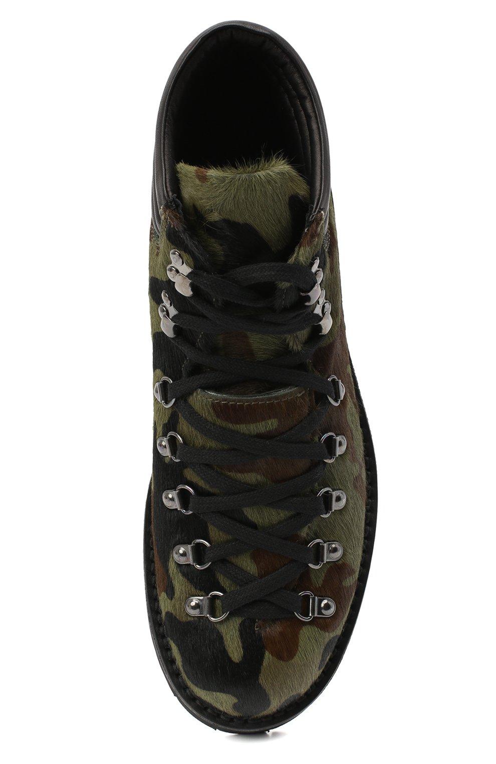Мужские кожаные ботинки m127 FRACAP зеленого цвета, арт. M127/P0NY/IMB.NEBR./CALFSKIN/CANNA FUCILI/R0CCIA | Фото 5