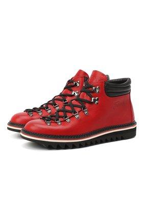 Мужские кожаные ботинки m127 FRACAP красного цвета, арт. M127 ARDIT/NEBR./IMB./GUARD.0NDA/CALFSKIN/CANNA FU | Фото 1