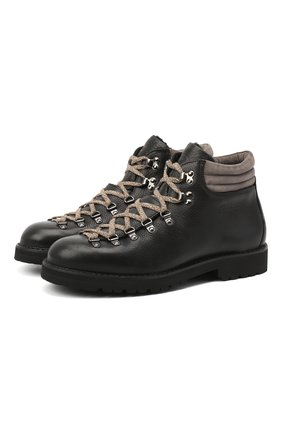 Мужские кожаные ботинки m127 FRACAP черного цвета, арт. M127/NEBR./IMB.SUEDE/FUR LAMB/CANNA FUCILE/R0CCIA | Фото 1