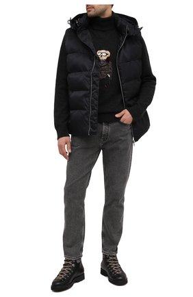 Мужские кожаные ботинки m127 FRACAP черного цвета, арт. M127/NEBR./IMB.SUEDE/FUR LAMB/CANNA FUCILE/R0CCIA | Фото 2
