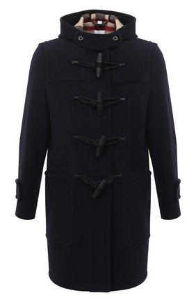 Мужской шерстяное пальто BURBERRY синего цвета, арт. 8033638 | Фото 1